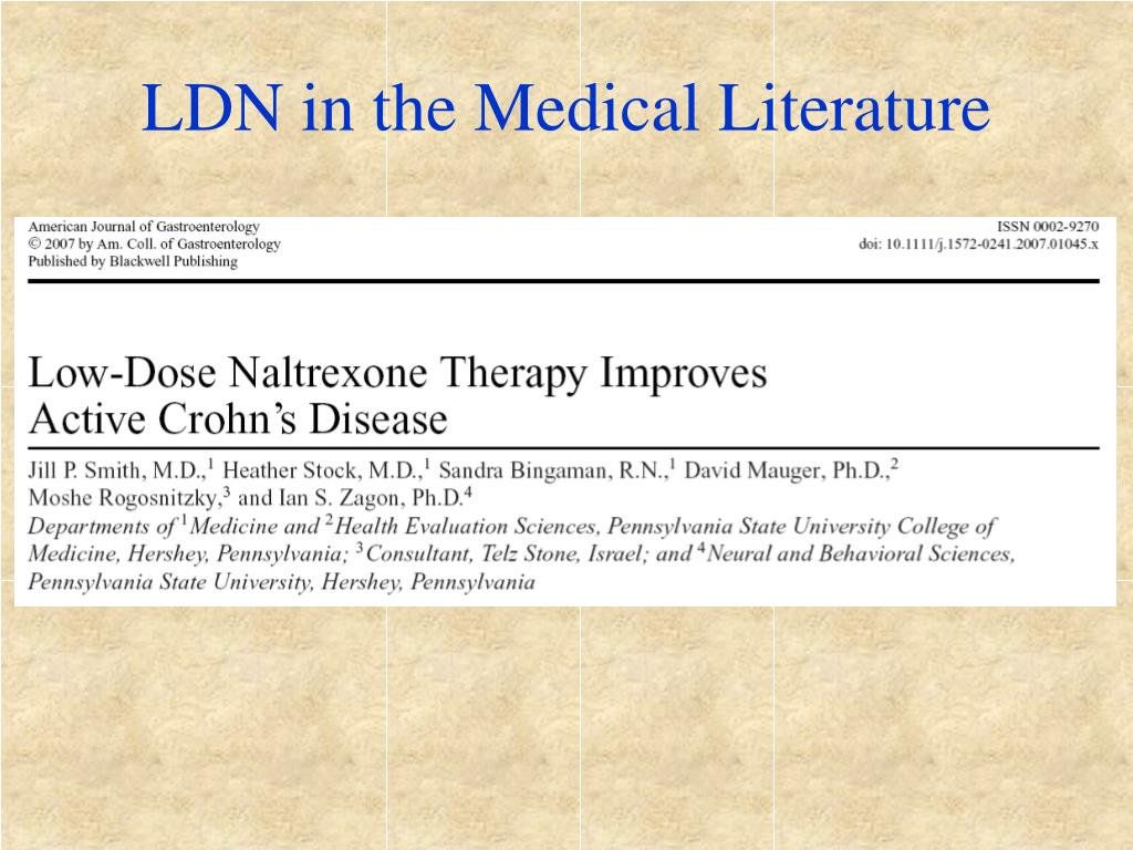 LDN in the Medical Literature