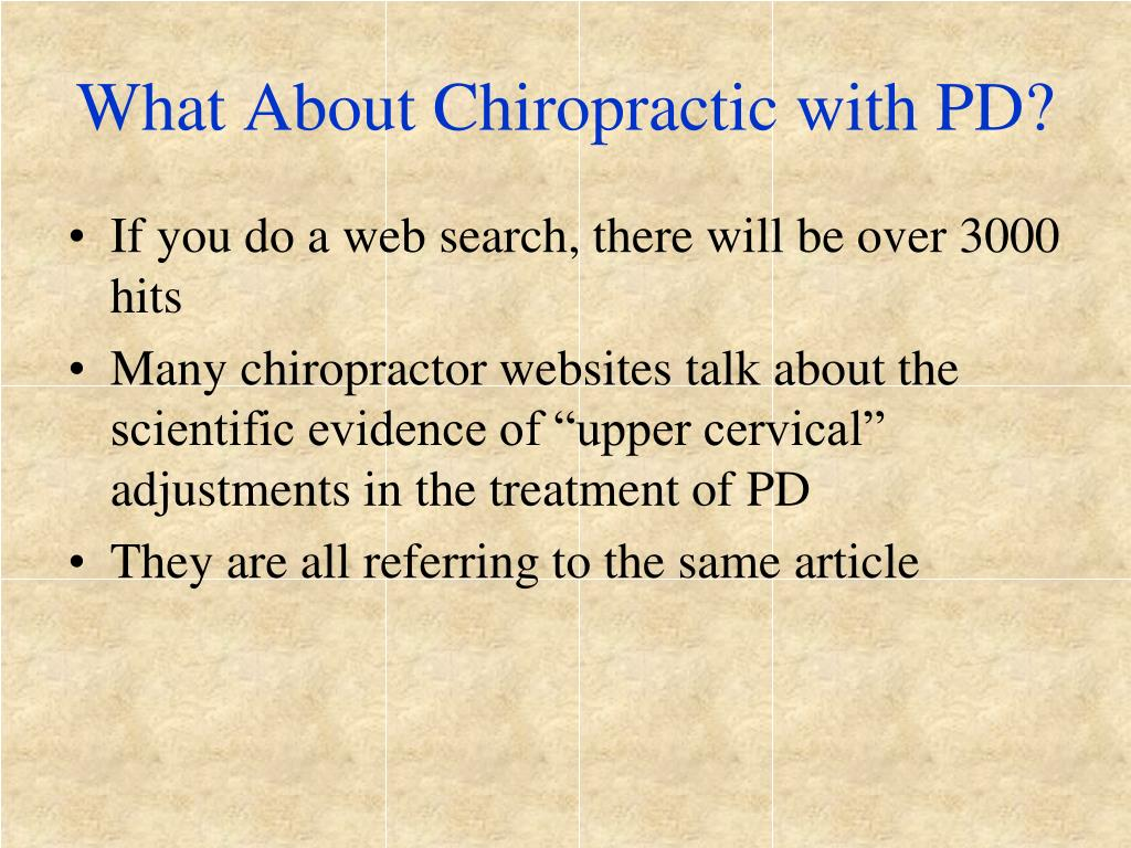 What About Chiropractic with PD?