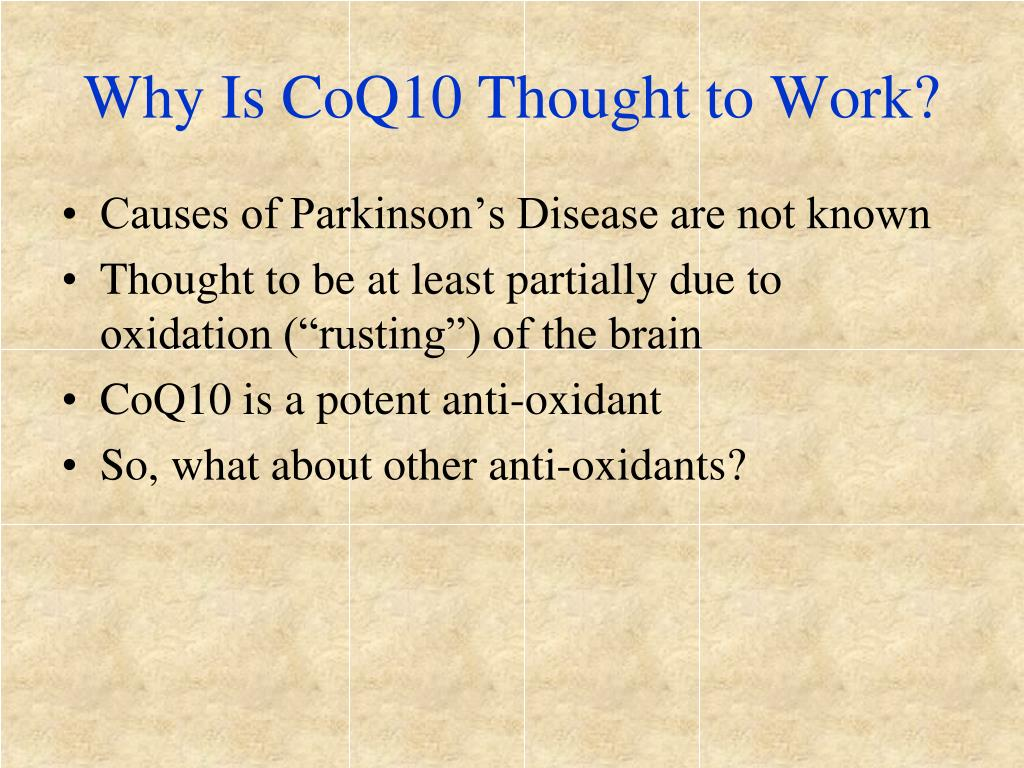 Why Is CoQ10 Thought to Work?