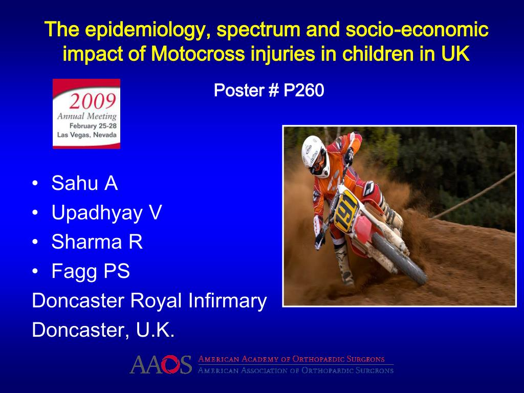 The epidemiology, spectrum and socio-economic impact of Motocross injuries in children in UK