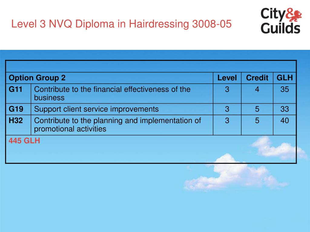 Level 3 NVQ Diploma in Hairdressing 3008-05