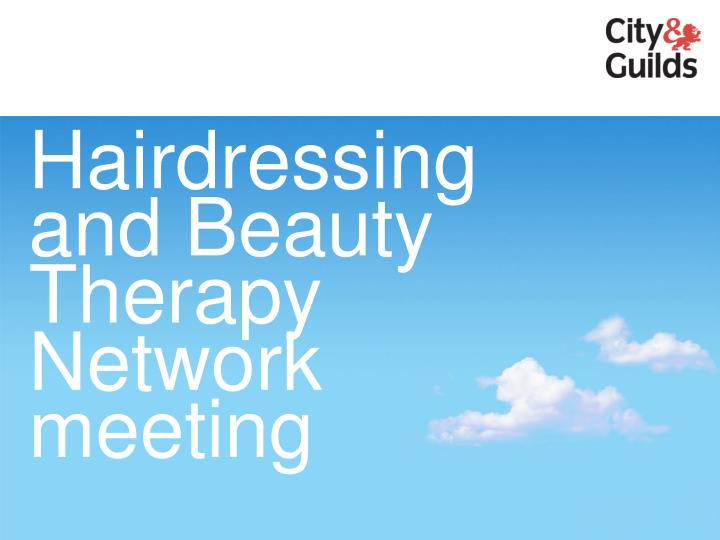 Hairdressing and Beauty Therapy Network meeting