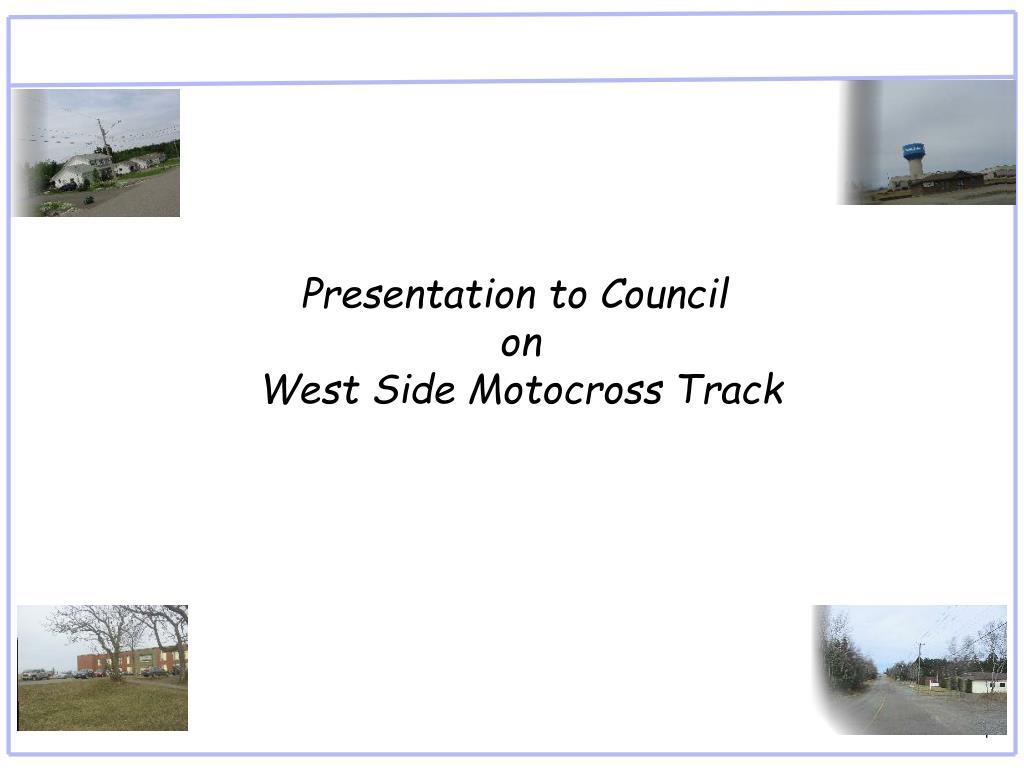Presentation to Council