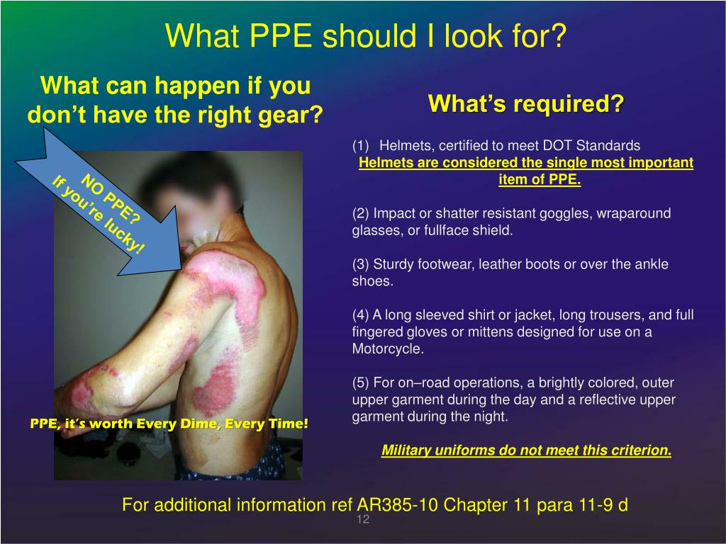What PPE should I look for?