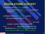 design storm concept