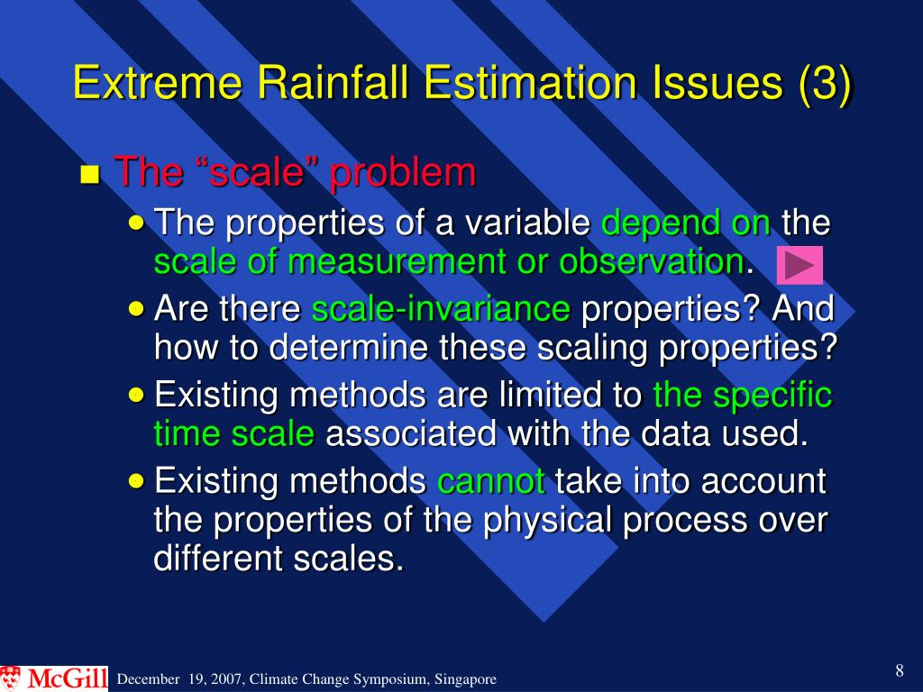 Extreme Rainfall Estimation Issues (3)