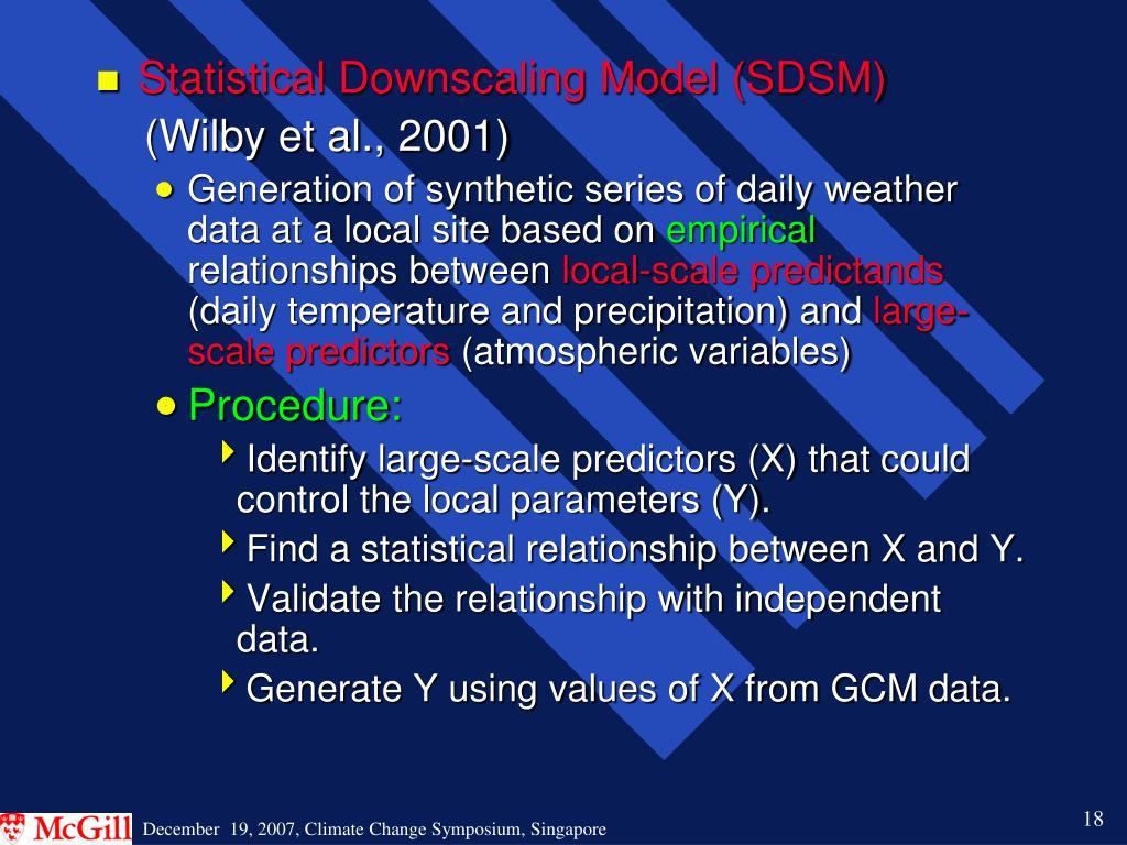 Statistical Downscaling Model (SDSM)
