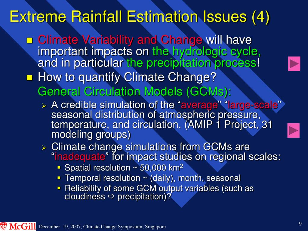 Extreme Rainfall Estimation Issues (4)