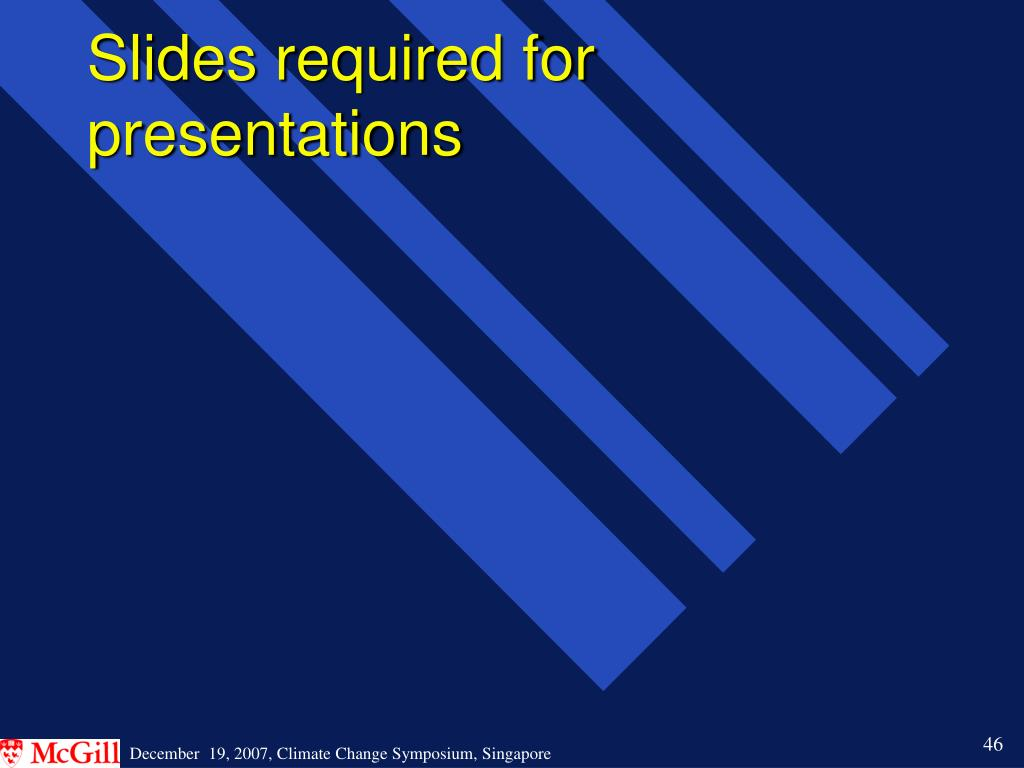 Slides required for presentations