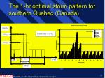 the 1 hr optimal storm pattern for southern quebec canada