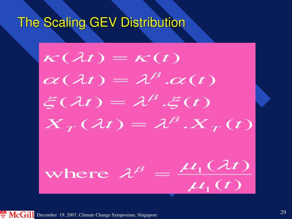 The Scaling GEV Distribution