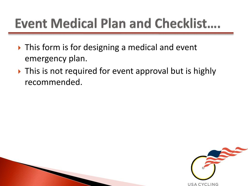 Event Medical Plan and Checklist….