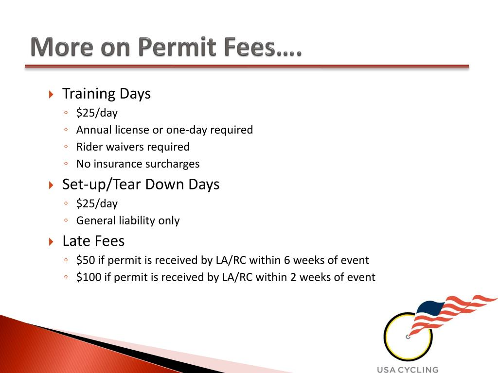 More on Permit Fees….