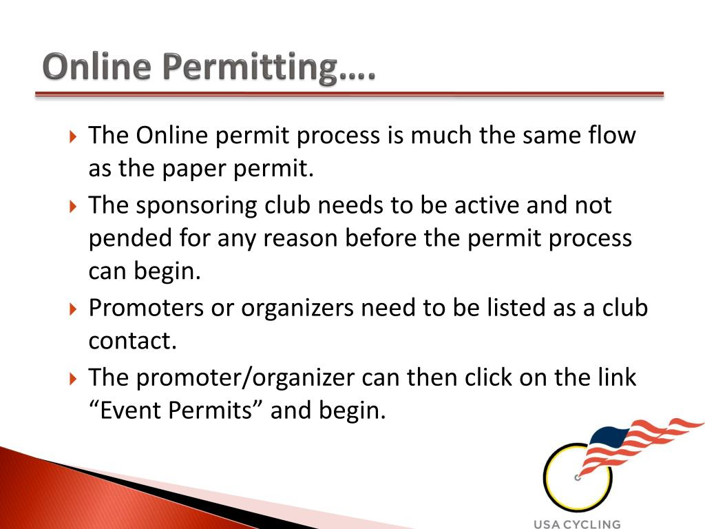Online Permitting….