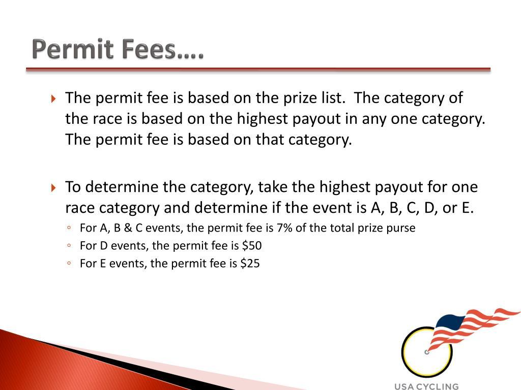 Permit Fees….