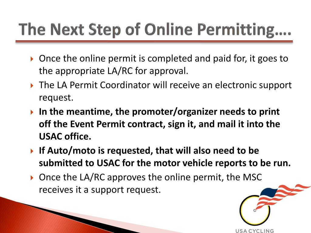 The Next Step of Online Permitting….