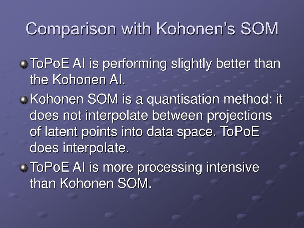 Comparison with Kohonen's SOM
