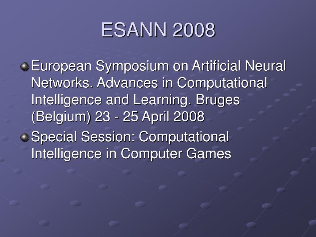 ESANN 2008