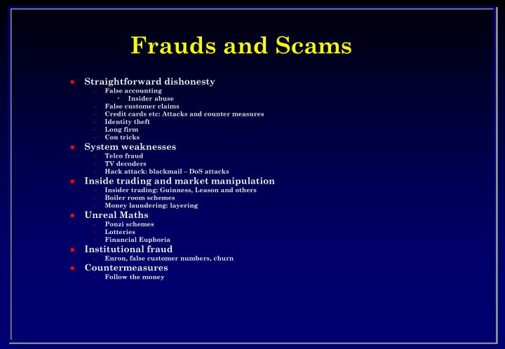 Frauds and scams2