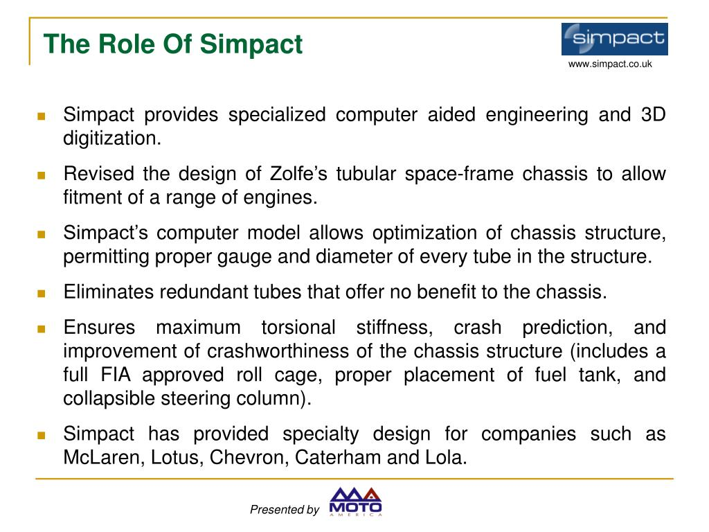 Simpact provides specialized computer aided engineering and 3D digitization.
