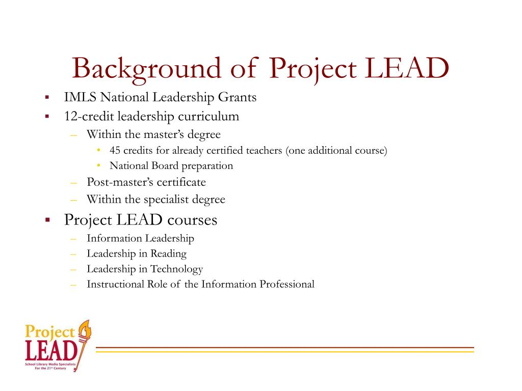 Background of Project LEAD