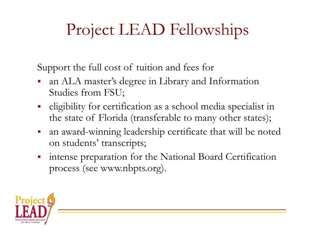 Project LEAD Fellowships