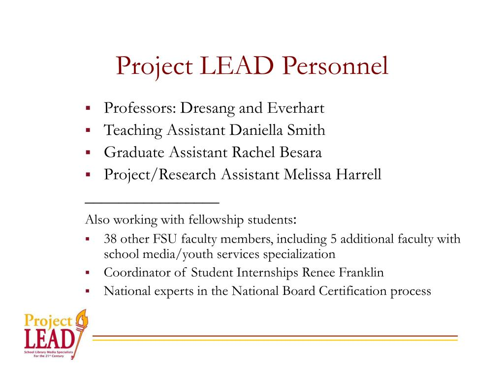 Project LEAD Personnel