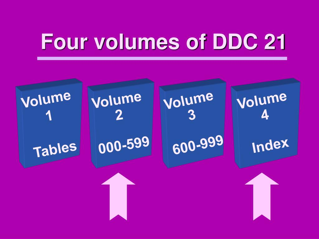 Four volumes of DDC 21