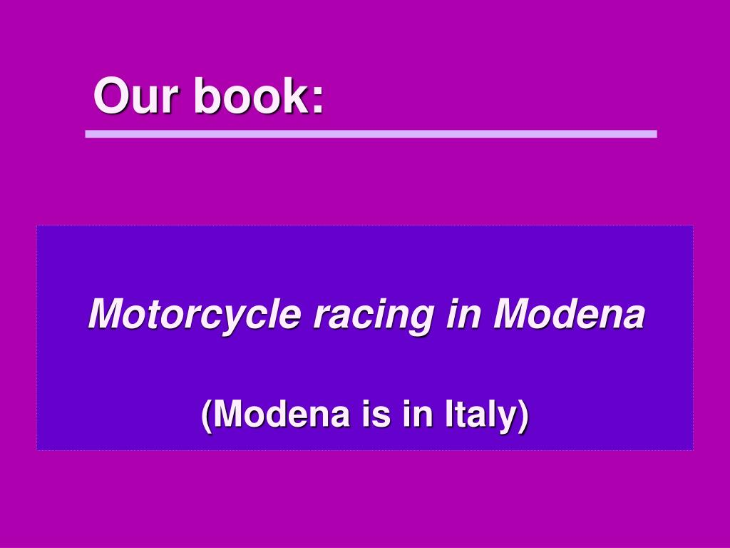 Our book: