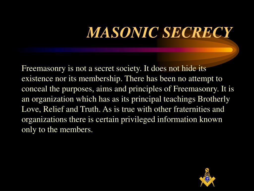 MASONIC SECRECY