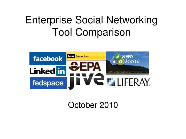 Enterprise social networking tool comparison l.jpg