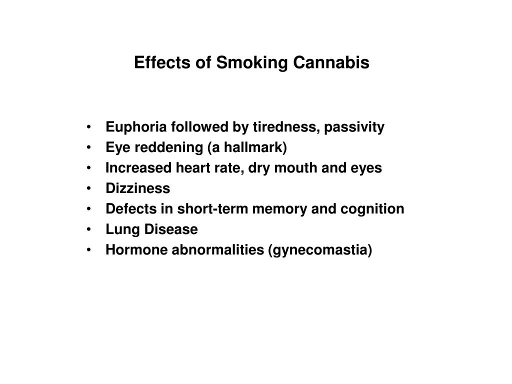 Effects of Smoking Cannabis