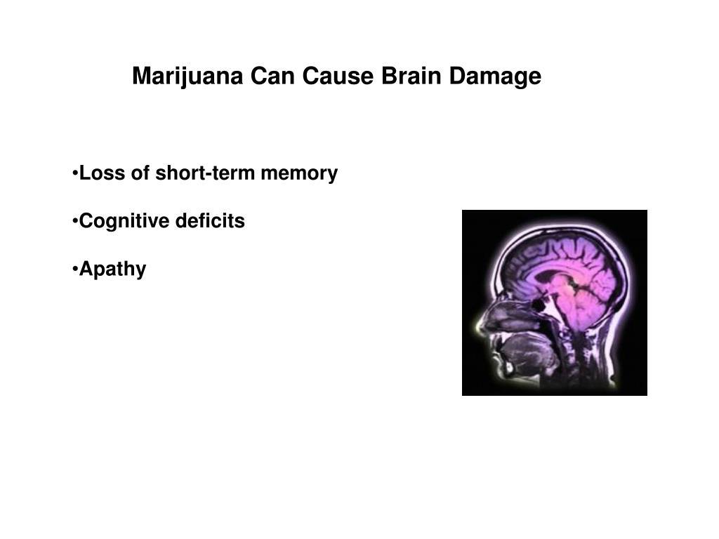 Marijuana Can Cause Brain Damage
