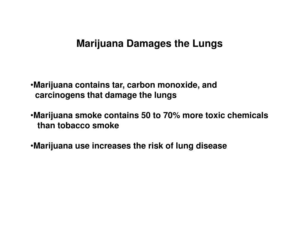 Marijuana Damages the Lungs