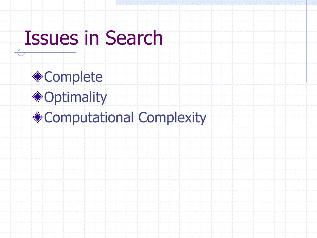 Issues in Search
