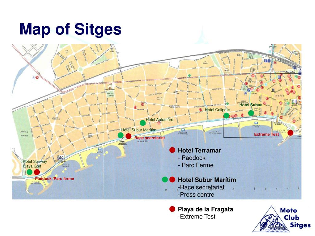 Map of Sitges