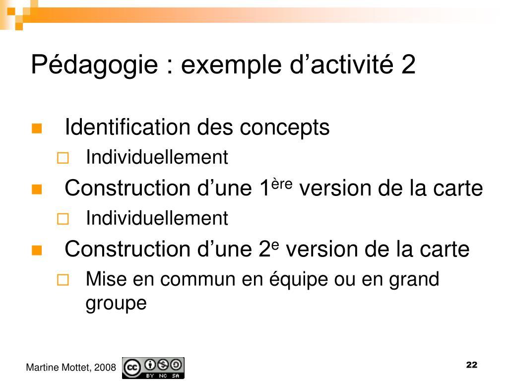 Pédagogie : exemple d'activité 2
