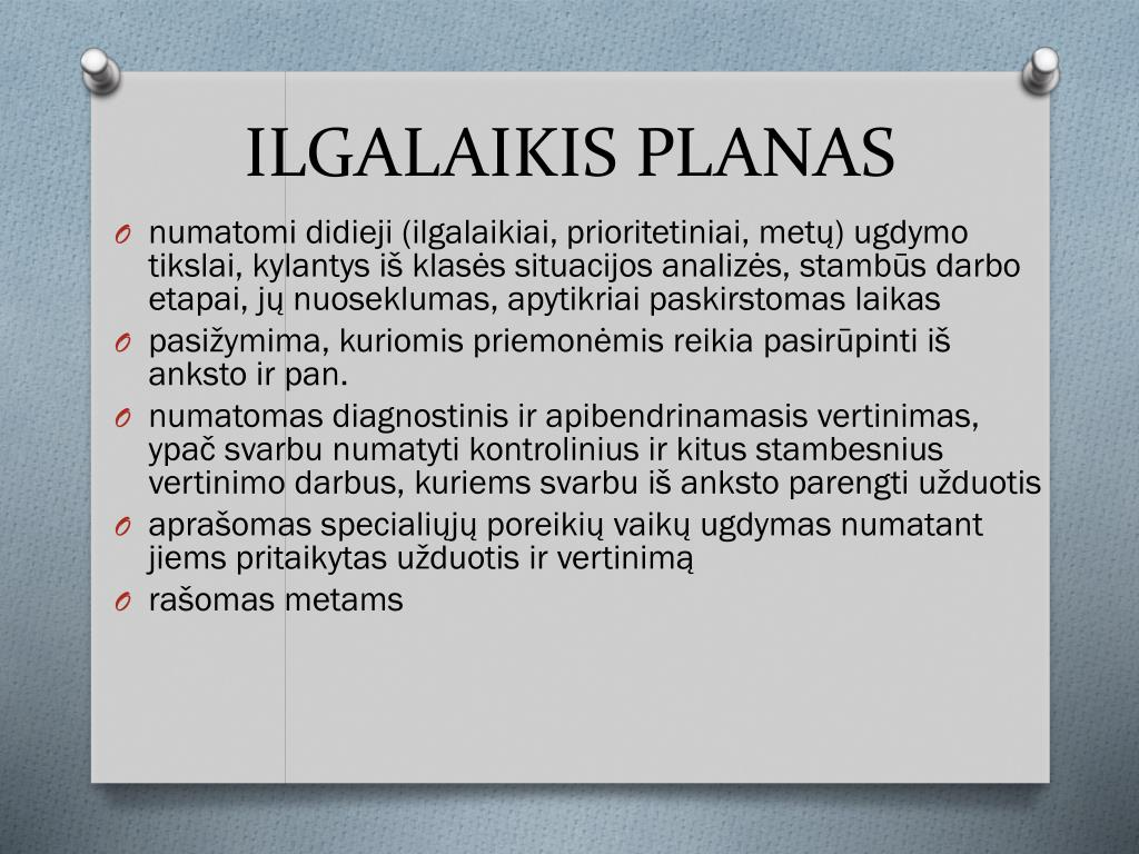 ILGALAIKIS PLANAS