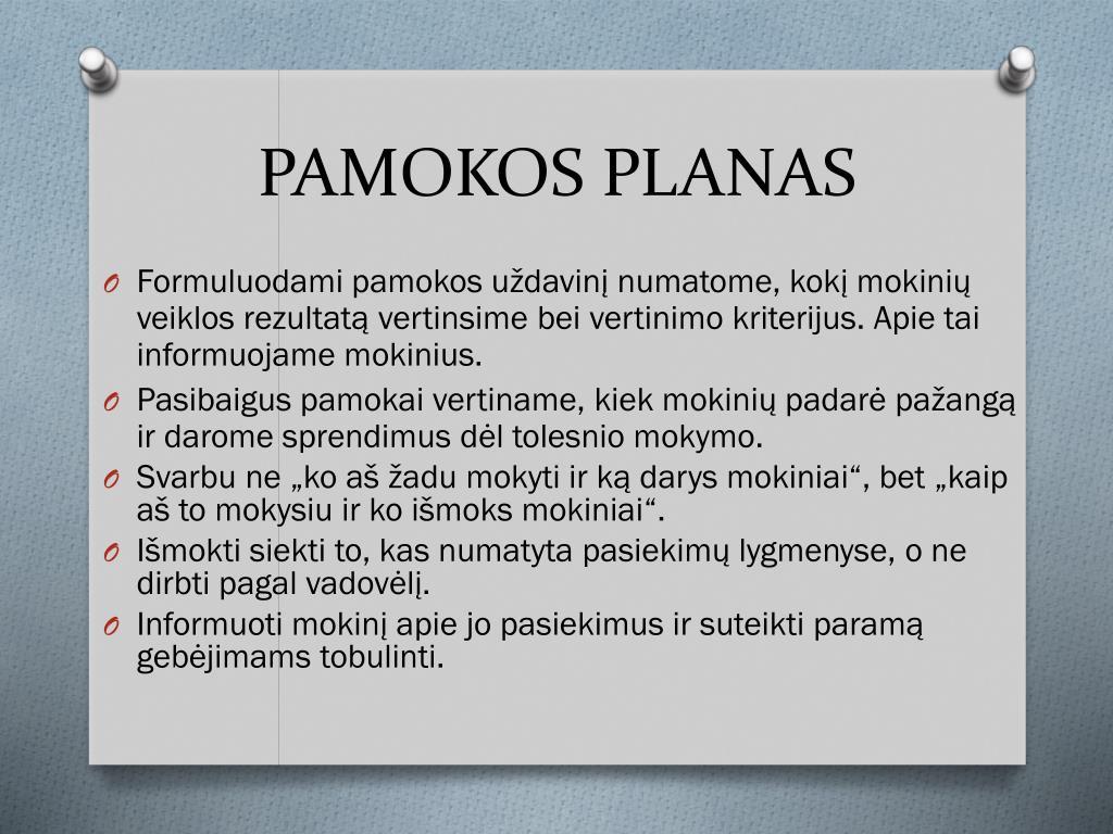 PAMOKOS PLANAS