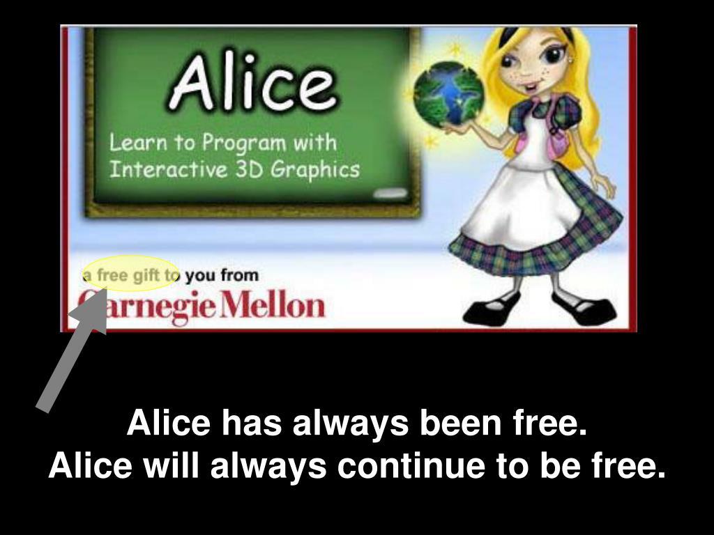 Alice has always been free.