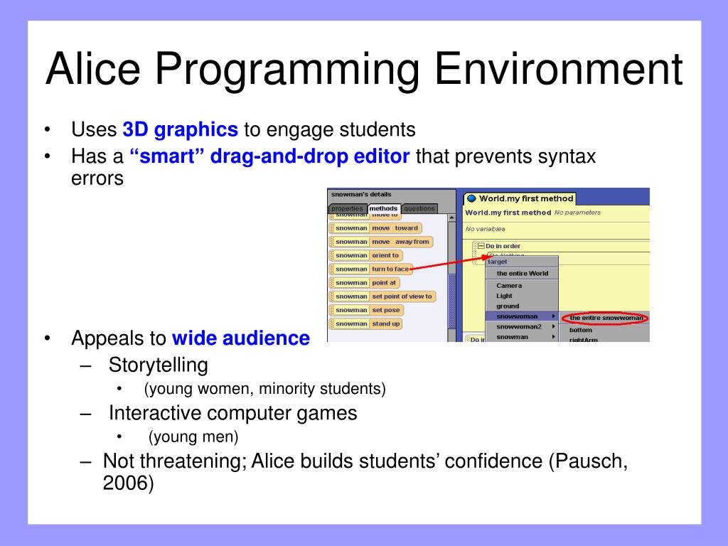 Alice Programming Environment