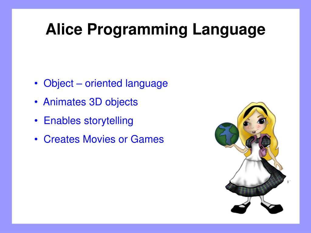 Alice Programming Language