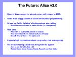 the future alice v3 0