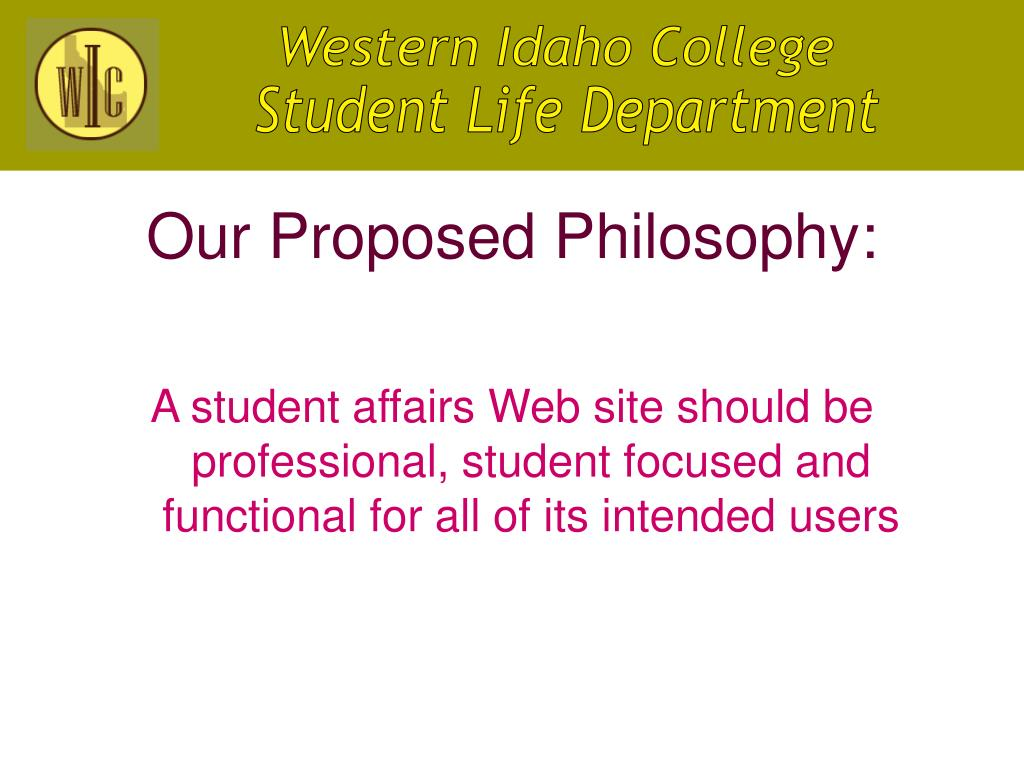Our Proposed Philosophy: