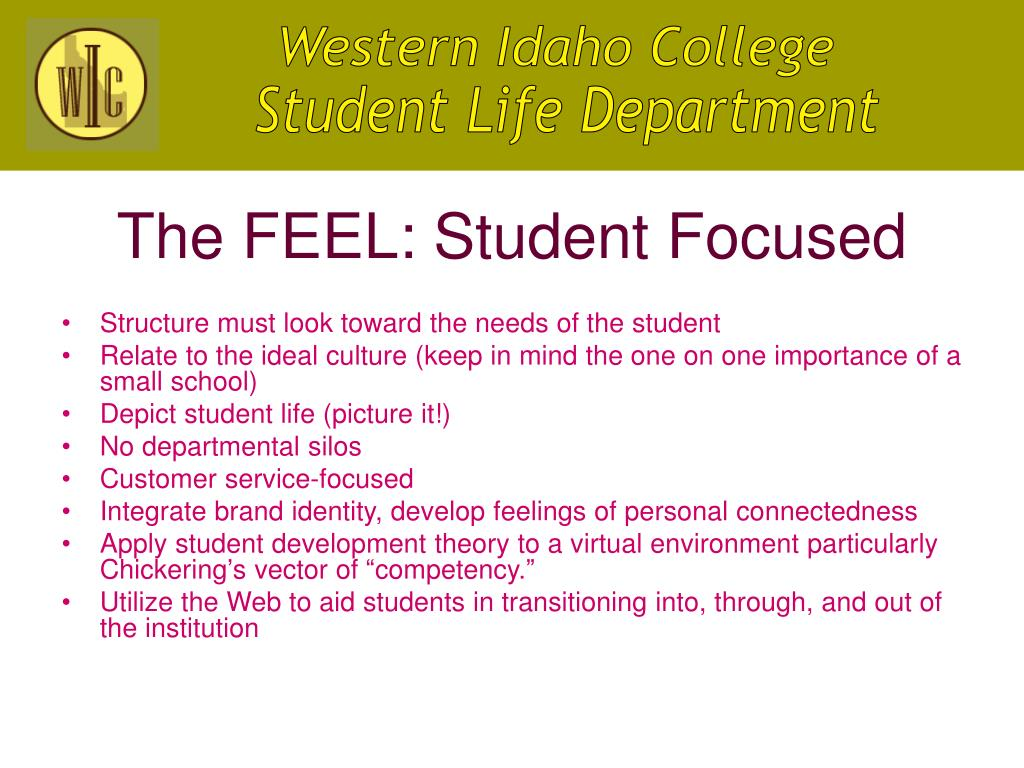 The FEEL: Student Focused