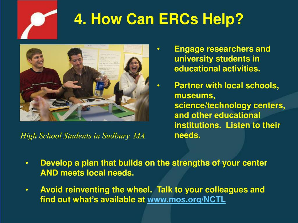 4. How Can ERCs Help?
