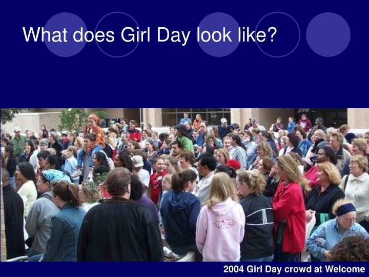 What does girl day look like