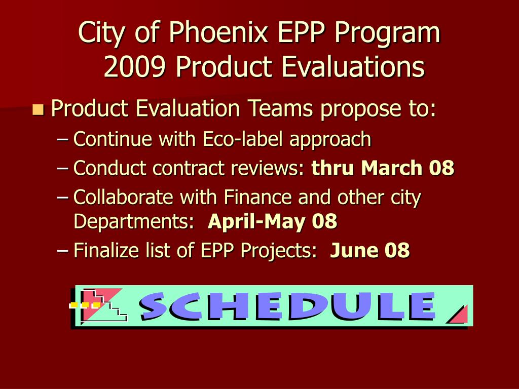 City of Phoenix EPP Program