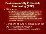 environmentally preferable purchasing epp