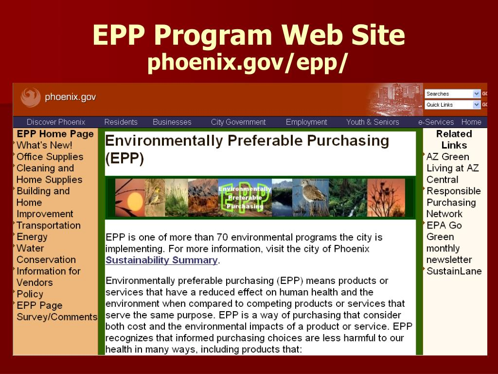 EPP Program Web Site